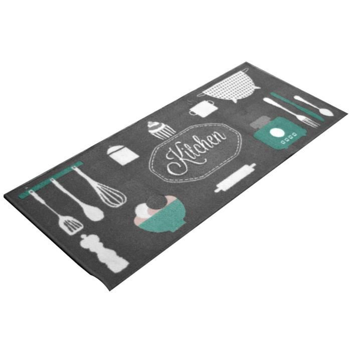 tapis de cuisine antid rapant kitchen gris achat vente tapis cdiscount. Black Bedroom Furniture Sets. Home Design Ideas