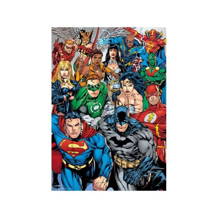 poster a3 metalizado dc comics collage achat vente affiche cdiscount. Black Bedroom Furniture Sets. Home Design Ideas