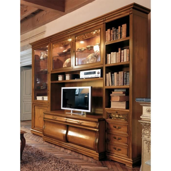 composition murale villa letizia achat vente meuble tv composition murale villa le soldes. Black Bedroom Furniture Sets. Home Design Ideas