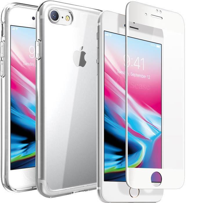 pack 3d incurve coque verre trempe iphone 8