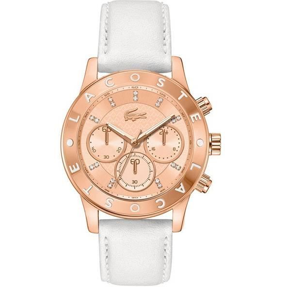 lacoste montre pour femme charlotte chrono 2000 rose dor achat vente montre soldes. Black Bedroom Furniture Sets. Home Design Ideas