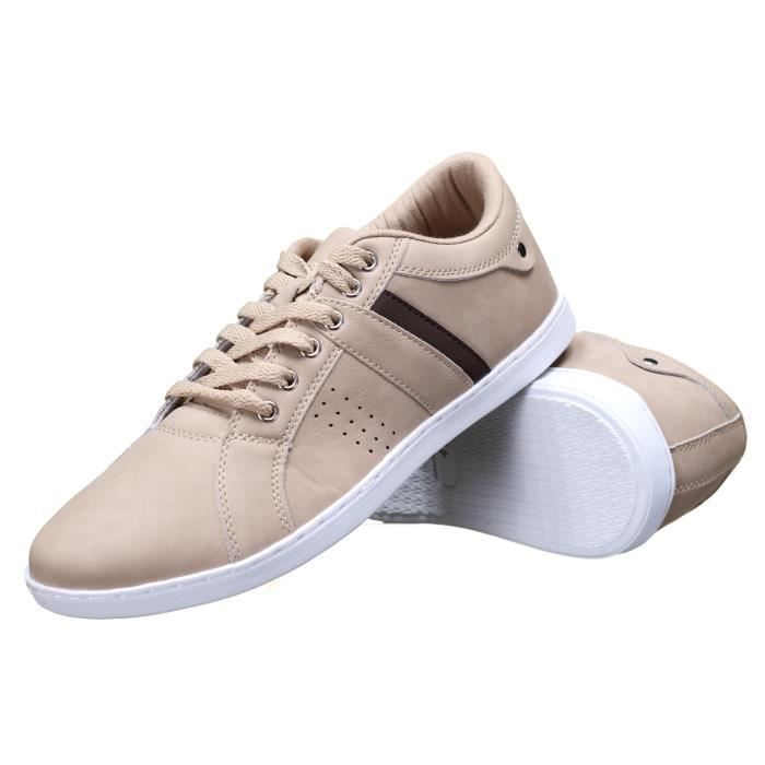 BASKET Chaussure Reservoir Shoes Anda Beige Suede
