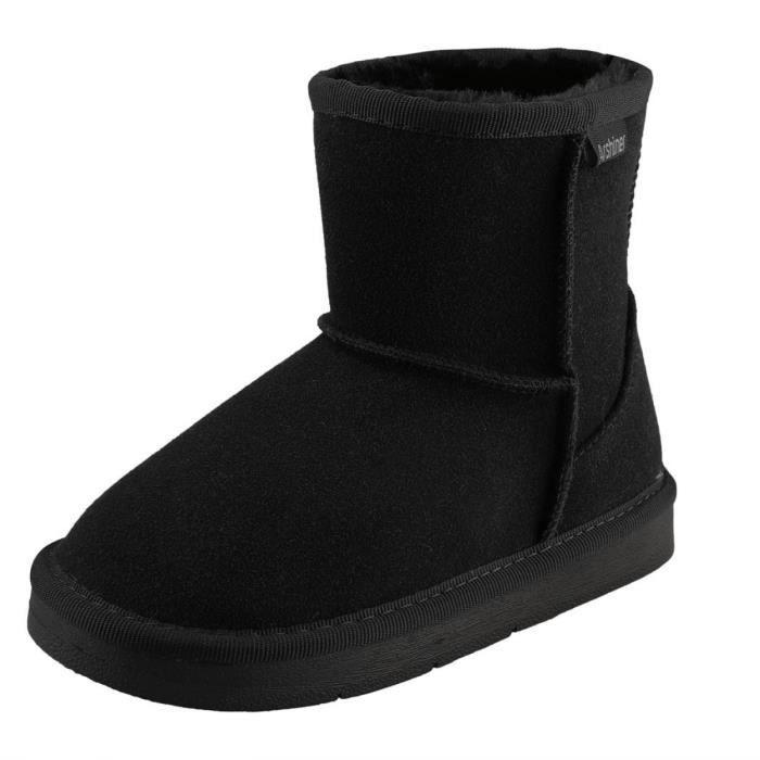enfants Arshiner chausson de fille botte Noir neige nOZN8kX0wP
