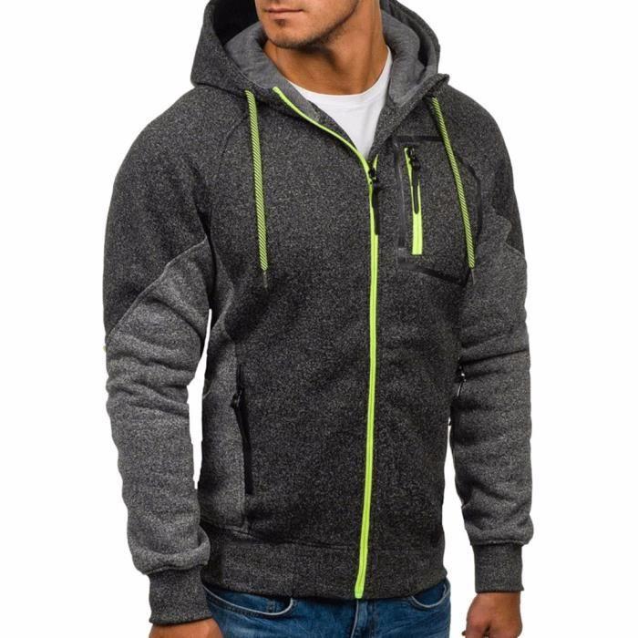 Nouveau Hommes Hiver Slim à Capuche Chaud Sweat À Capuche Manteau Veste Outwear Sweater