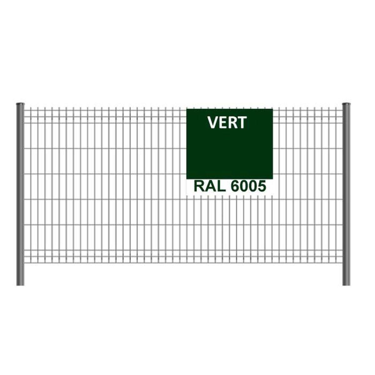 Brise Vue Hauteur 1M70 kit de 125ml de clôture rigide comprenant : 50 panneaux + 51
