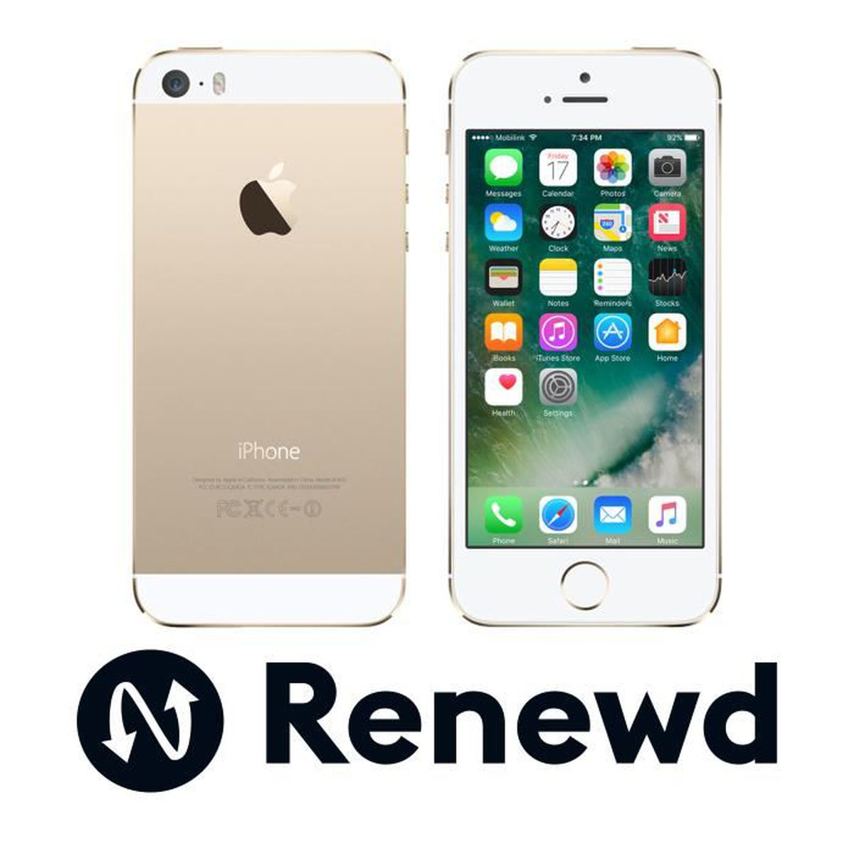 Renewd Apple iPhone 5S recondionné - 16GB Or, 10,2 cm (4