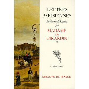 LIVRE HISTOIRE FRANCE LETTRES PARISIENNES DU VICOMTE DE LAURNAY. Tome 2