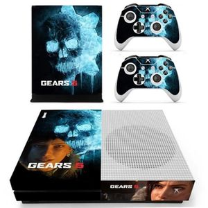 STICKER - SKIN CONSOLE Autocollant Manette NO.2 Xbox one s ENGRENAGES GUE