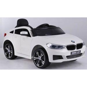 VOITURE ELECTRIQUE ENFANT Voiture électrique enfant 12 volts BMW 6GT blanc à