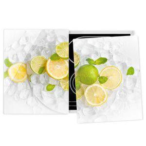 PLAQUE INDUCTION Couvre plaque de cuisson - Citrus Fruits On Ice -
