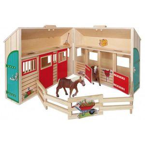 MAISON POUPÉE Maison de poupees en bois cabine à cheval avec meu
