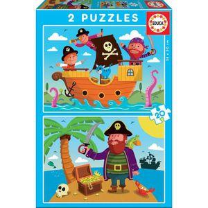 PUZZLE EDUCA PUZZLE 2X20  PIRATES