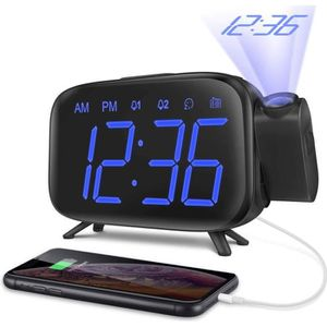 Radio réveil Réveil Projection Radio Réveil Projecteur 180° Hor