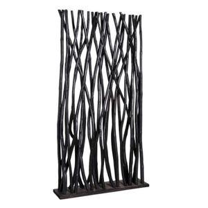 PARAVENT Paravent en bois noir GASPARD - L 100 x l 24 x H 1
