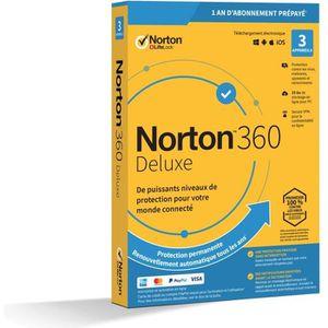 ANTIVIRUS NORTON 360 Deluxe 25 Go FR 1 Utilisateur 3 Apparei