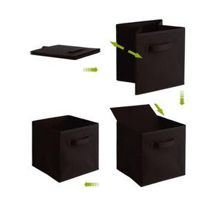 BOITE DE RANGEMENT 6 PCS boites de rangement en tissu non-tissé + car