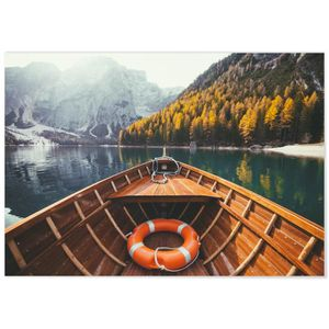 AFFICHE - POSTER Panorama® Poster Lac de Braies 100 x 70 cm - Impri
