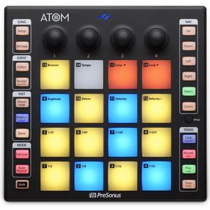 SURFACE DE CONTRÔLE PreSonus ATOM1 - Contrôleur Midi 16 pads RGB