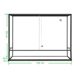 VIVARIUM - TERRARIUM Terrarium aluminium Elegance 140x50x90 Black