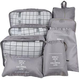 SET DE SACS DE VOYAGE 8pcs sac de rangement de voyage mis valise chaussu