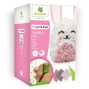 Kit décopatch SYCOMORE Plush'n fun tinypets Lapin - 1 forme 3D -