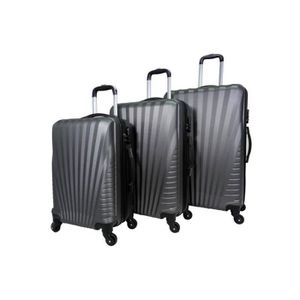 SET DE VALISES Set de 3 valises 4 roues rigide Gris - Elegance -