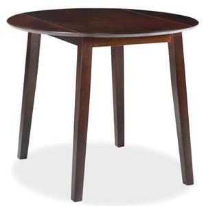 TABLE À MANGER SEULE Table de salle à manger ronde à abattant MDF Marro