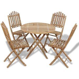 Table de jardin ronde 2 personnes en alu type bistrot ...