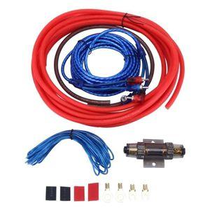 CÂBLE - FIL - GAINE Kit de câble DIY voiture YH-6GA 1200W 6GA cuivre e
