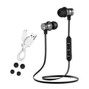 CASQUE - ÉCOUTEURS Casque d'écouteur Bluetooth Sans Fil Stéréo Magnét