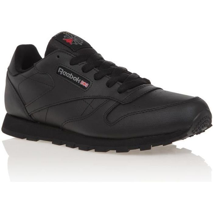 REEBOK Baskets Classic Leather - Enfant Garçon - Noir