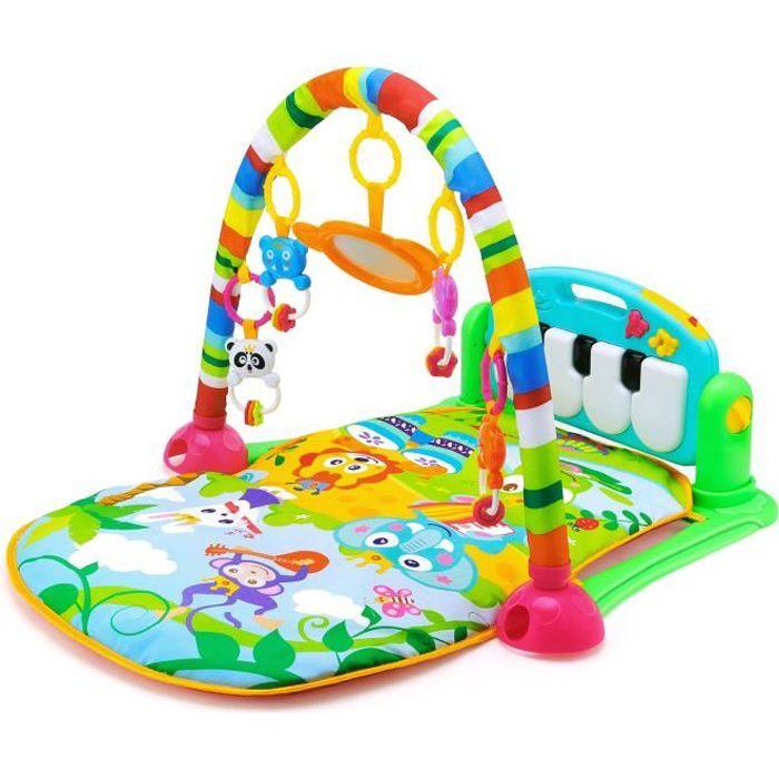 Tapis bébé de fitness HE0603 jouet éducatif pour nouveau-né Vert