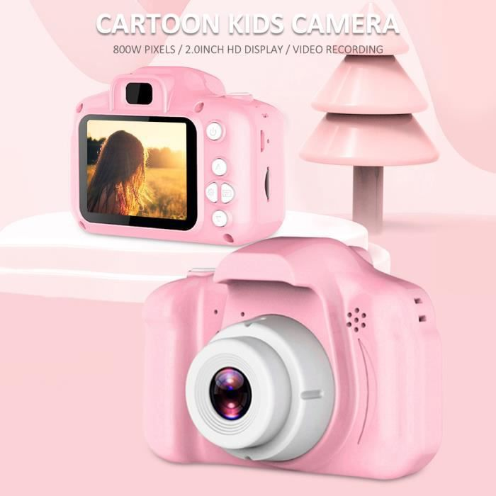 Appareil photo enfant appareil photo numérique pour enfant 1080P HD 8MP cadeau enfant Rose