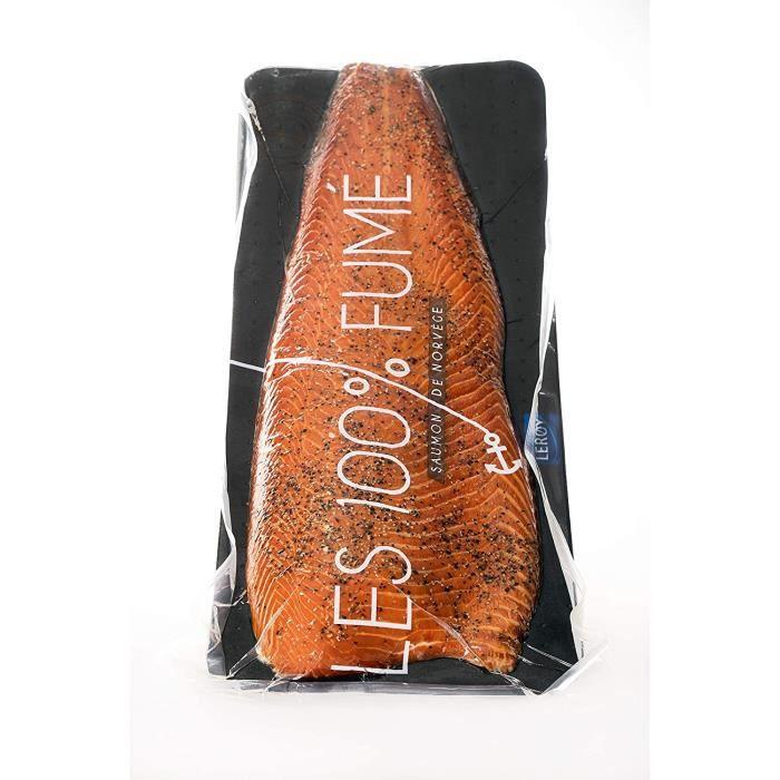 Filet de Saumon fumé à chaud AVEC peau au poivre Saveurs en Or