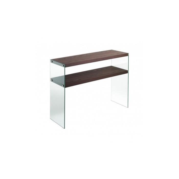 Console design double plateau bois CALOUNDRA