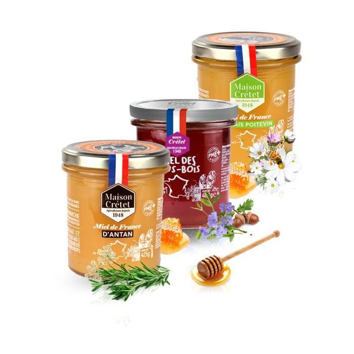 Trio miel terroir de France-