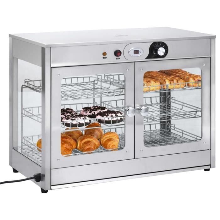 Chauffe-plat électrique Chauffe-assiette Réchaud Buffet Gastronorm 1200 W Acier inoxydable