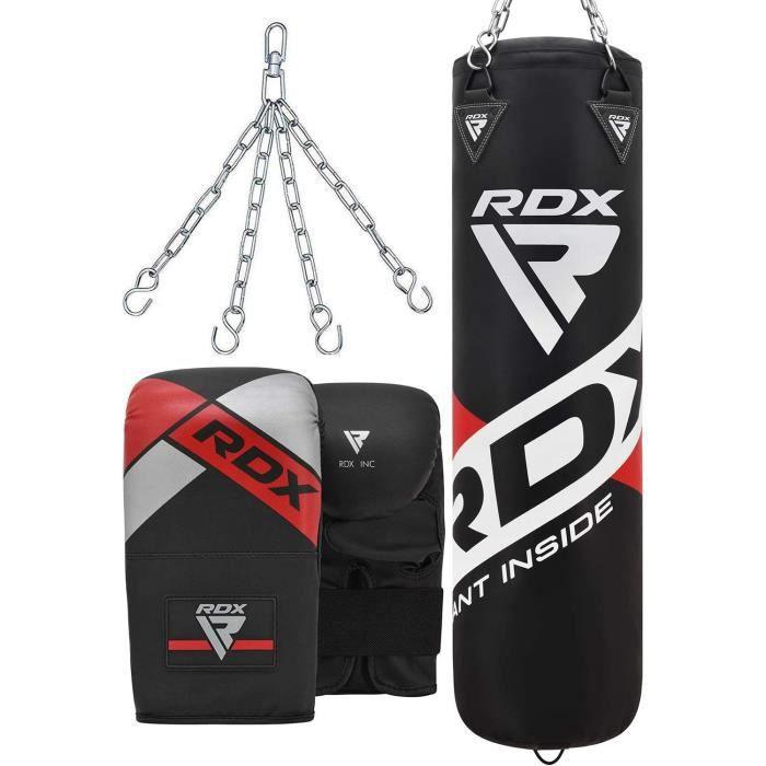 RDX Sac de Frappe Rempli Lourd Punching Ball MMA Muay Thai Kickboxing Arts Martiaux Gants Boxe Chaine Suspension Plafond Pun[59]