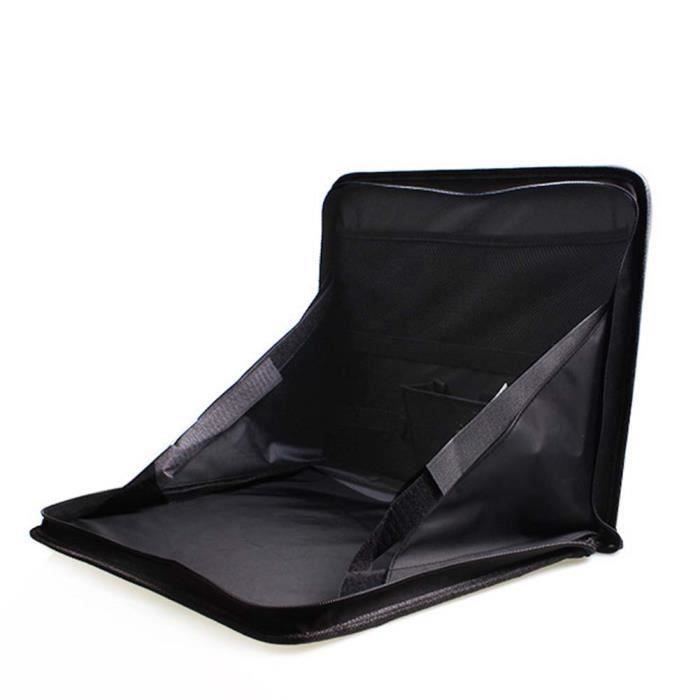 Organisateur de siège de voiture pliant organisateur Zip Tidy Organizer DVD Support pour ordinateur portable Noir bes20854