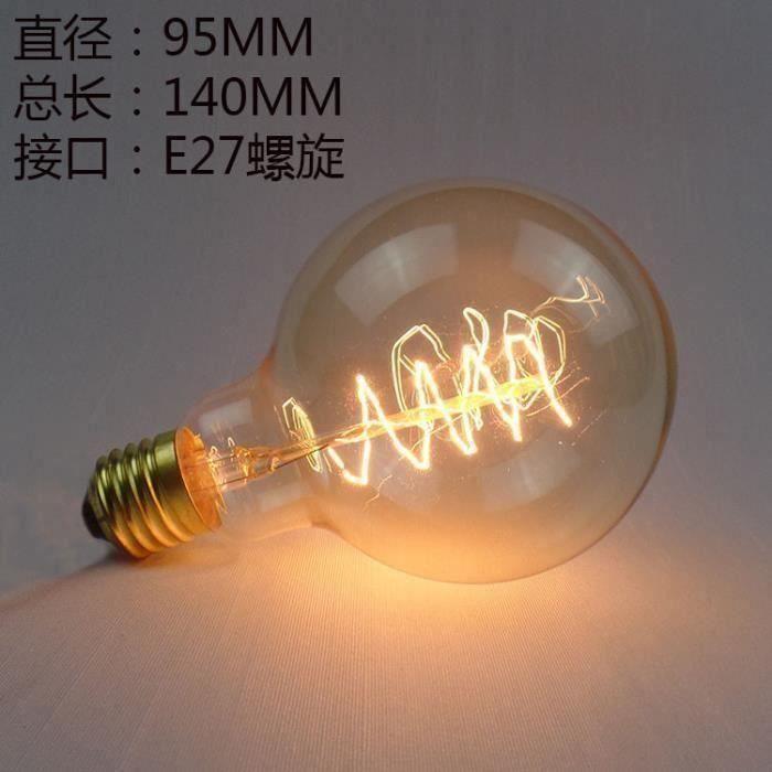 Incandescente Ampoule G95 Wrap 60W co09105