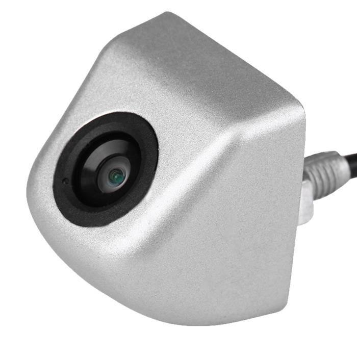 Qiilu Caméra de recul CCD Caméra de recul de voiture CCD de secours Parking Vision nocturne caméra de recul étanche argent