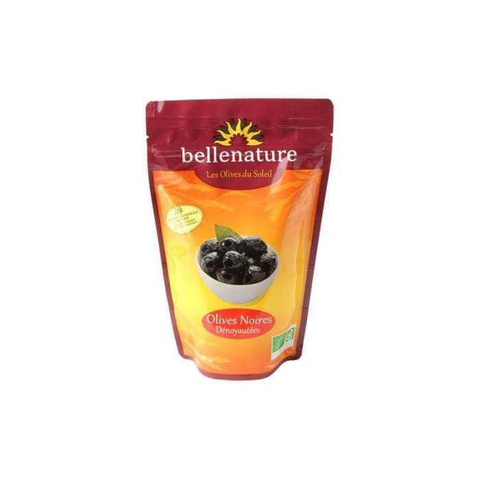 Olives noires dénoyautées sachet 400gr