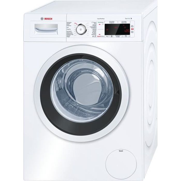 WAW32472FG BOSCH Lave-linge 9 kg, 1600 tr-min., EcoSilence Drive, display LED, VarioPerfect A+++ -30%