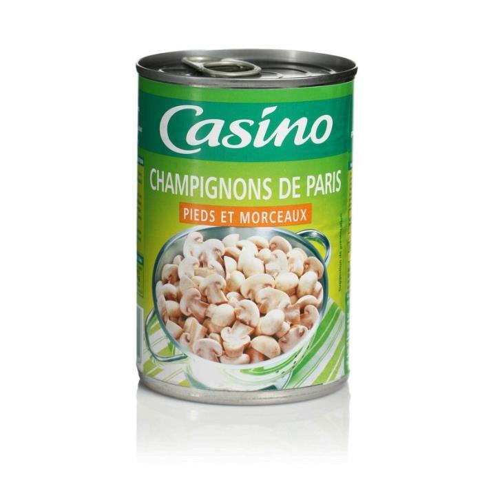 CASINO Champignons de Paris - Pieds et Morceaux - 400 g