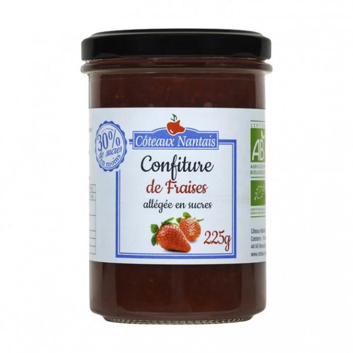 Confiture allégée fraises 225gr - Coteaux Nantais