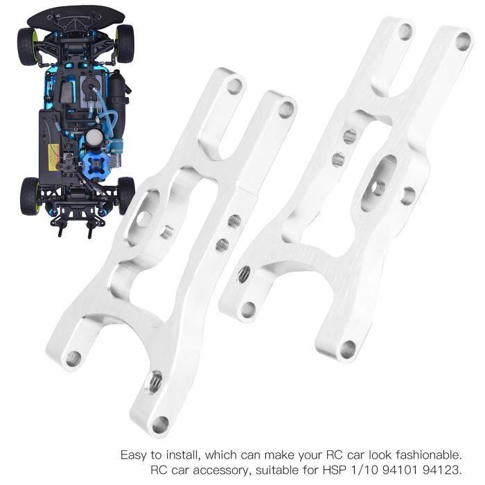 JIE Bras de suspension arrière 2pcs Bras de Suspension Arrière en Alliage d'Aluminium de Voiture RC 102021 pour HSP 1/10 94101