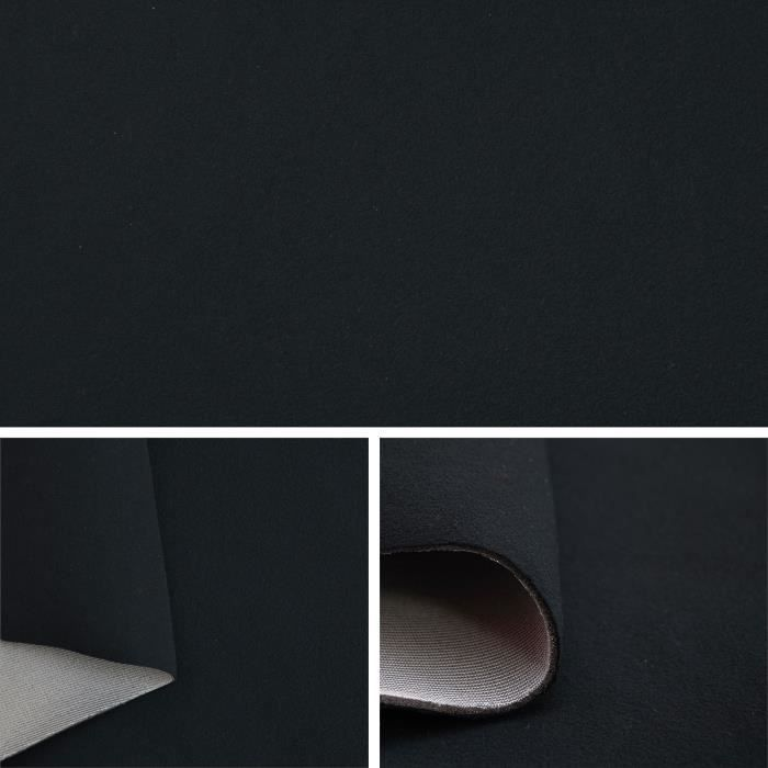 Tissu velours couleur noir