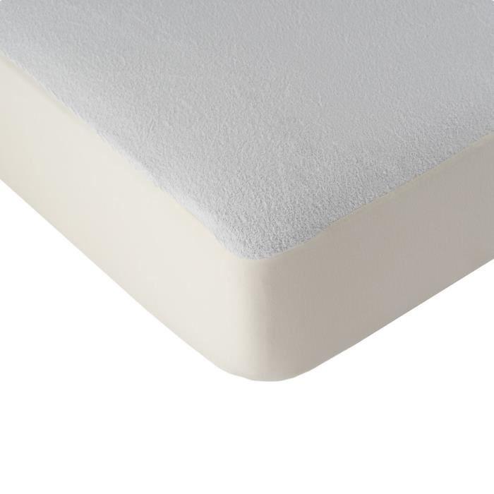LINANDELLE Alèse protège matelas imperméable PVC Hygyena - 160 x 200 cm - Blanc