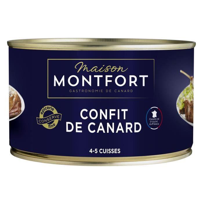 MAISON MONTFORT Confit de canard - 4-5 cuisses - 1350 g