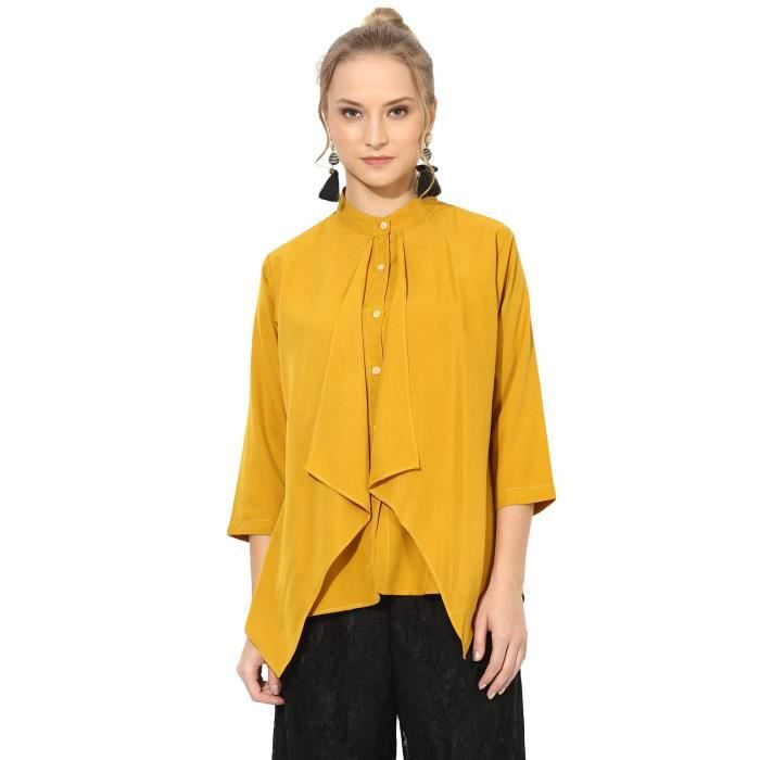 Polo HVE5N Lambrissé Solid Femmes Shirt Styled Top Taille-40